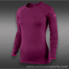 Nike Pro Hyperwarm Shirt-Raspberry Red