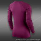 Nike Pro Hyperwarm Shirt-Raspberry Red