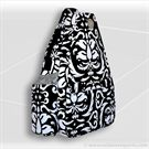 Jet Pac Black and White Paisley Tennis Bag