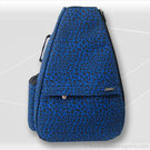 Jet Pac Blue Suede Cheetah Tennis Bag
