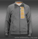 Puma Fleece Track Jacket-Medium Grey Heather