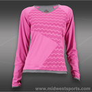 Bolle Mai Tai V-Neck Long Sleeve Top-Fuchsia
