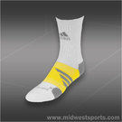adidas Barricade Crew Tennis Sock White