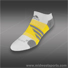 adidas Barricade No Show Tennis Sock White