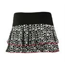 Lucky in Love Neo Geo Tangram Pleated Tier Skirt - Black/White