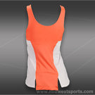 Lucky in Love Petal Power High Neck Tank-Orange