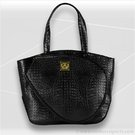 Court Couture Black Croc Cassanova Tennis Bag