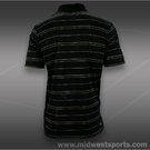adidas Striped Polo-Black