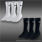 Nike Cotton Half Cushion Crew 3-Pack Socks (Kids)