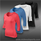 Nike Womens Three Quarter Sleeve Top