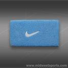 Nike Swoosh Doublewide Wristbands-Light Blue
