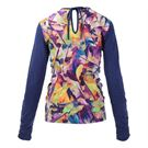 Eleven Prism Exert Long Sleeve Top - Navy/Prism Print