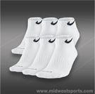 Nike Dri-FIT Low Cut 6-Pack Sock White