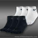 Nike Dri Fit Cushion Quarter 3 Pack Socks