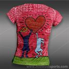Lucky in Love Girls Tennis Burnout Top