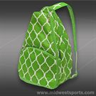 All For Color Lime Quatrefoil Tennis Backpack