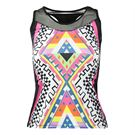 Lucky in Love Neo Geo Racerback Tank - Pinkberry