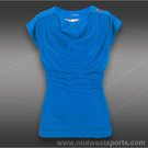 adidas Girls adiZero Cap Sleeve Top-Solar Blue