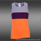 adidas Girls Response Tank-Glow Orange