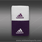 adidas Tennis Single Wide Wristband-White/Tribe Purple