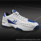 Yonex Power Cushion 308 White Blue Mens Tennis Shoes