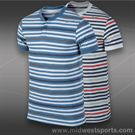 Nike Dri Fit Touch Stripe Henley- Birch