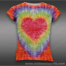 Lucky in Love Girls Tie Dye Burnout T-Shirt
