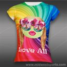Lucky in Love Girls Hippie Ball T-Shirt-Multi Color