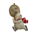 Small Snowman with Racquet Christmas Ornament