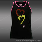 Lucky in Love Girls Rainbow Rhinestone Tank