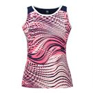 Tail Making Waves Crew Neck Tank - Electric Rose Aegean Ocean