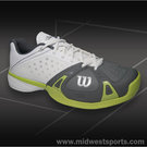 Wilson Rush Pro Mens Tennis Shoe White/Graphite/Green Glow WRS318670