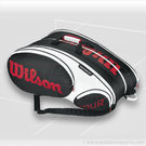 Wilson Black White Tour 15 Pack Tennis Bag