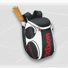 Wilson Black White Tour Large Tennis Backpack