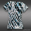 Eleven Round Robin Cap Sleeve Top-Tie Dye Black