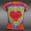 Lucky in Love Girls Tie Dye Burnout T-Shirt