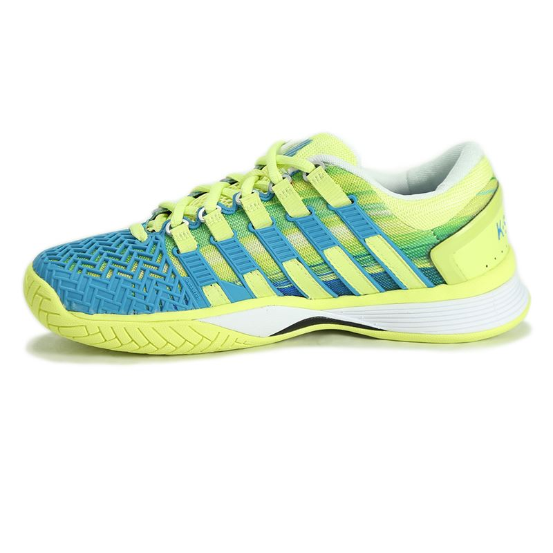 k swiss hypercourt womens tennis shoe blue lime