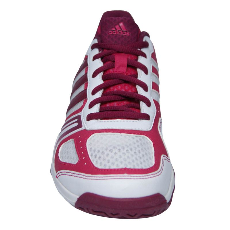 adidas Rally Court Womens Tennis Shoes-White/Berry/Pink