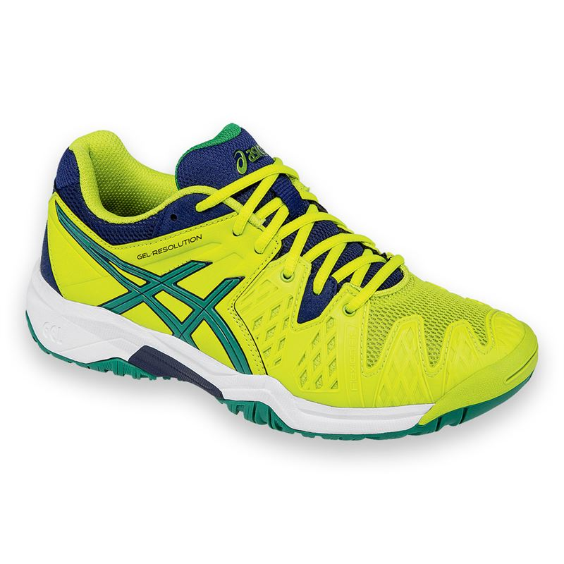 asics gel resolution 6 junior tennis shoe c500y 0588