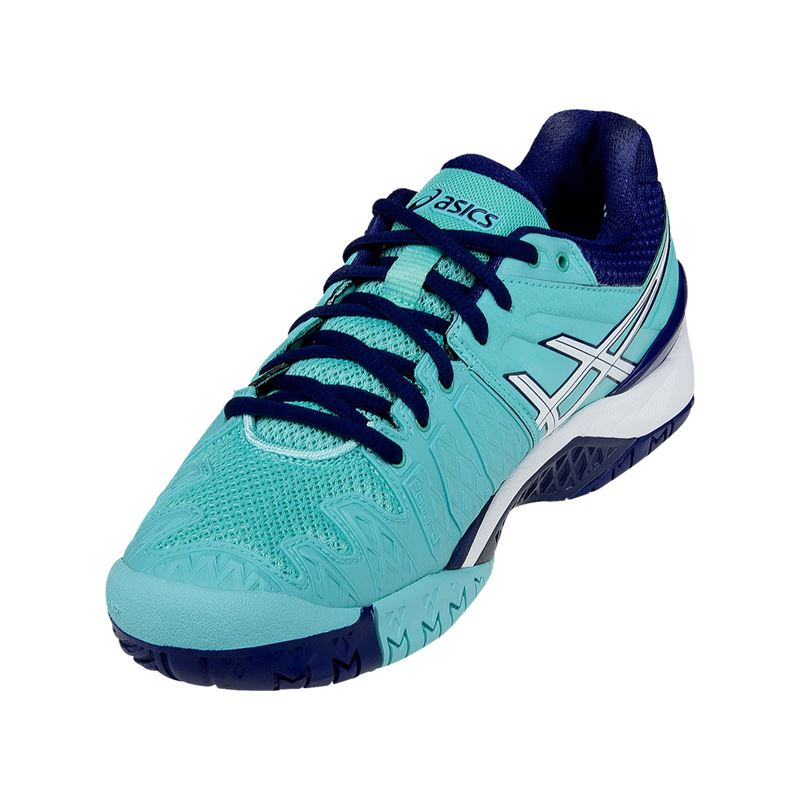 asics gel resolution 6 womens tennis shoe e550y 3901