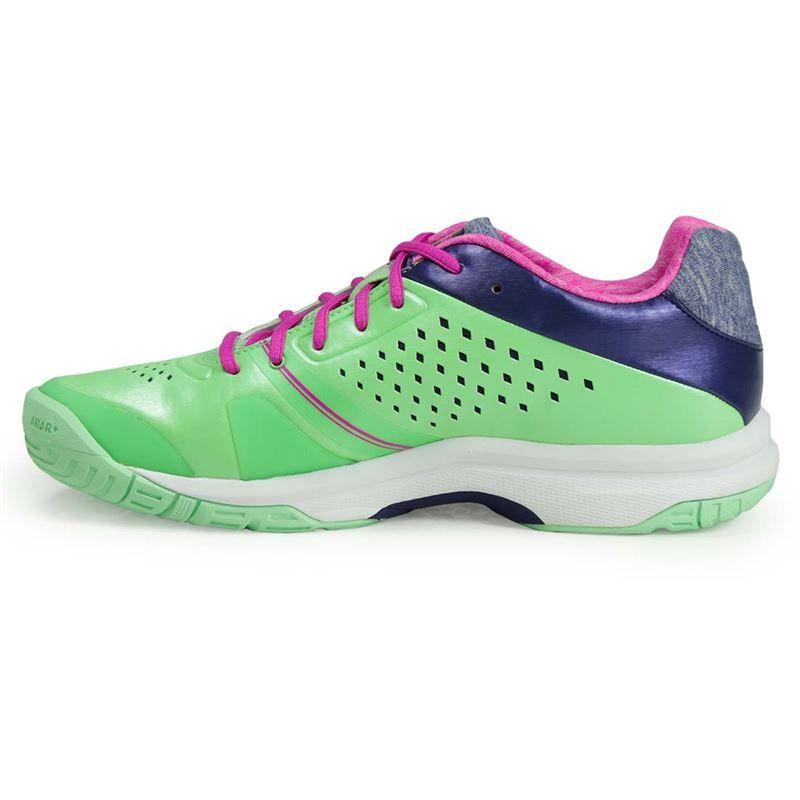 asics gel court womens tennis shoe green pink