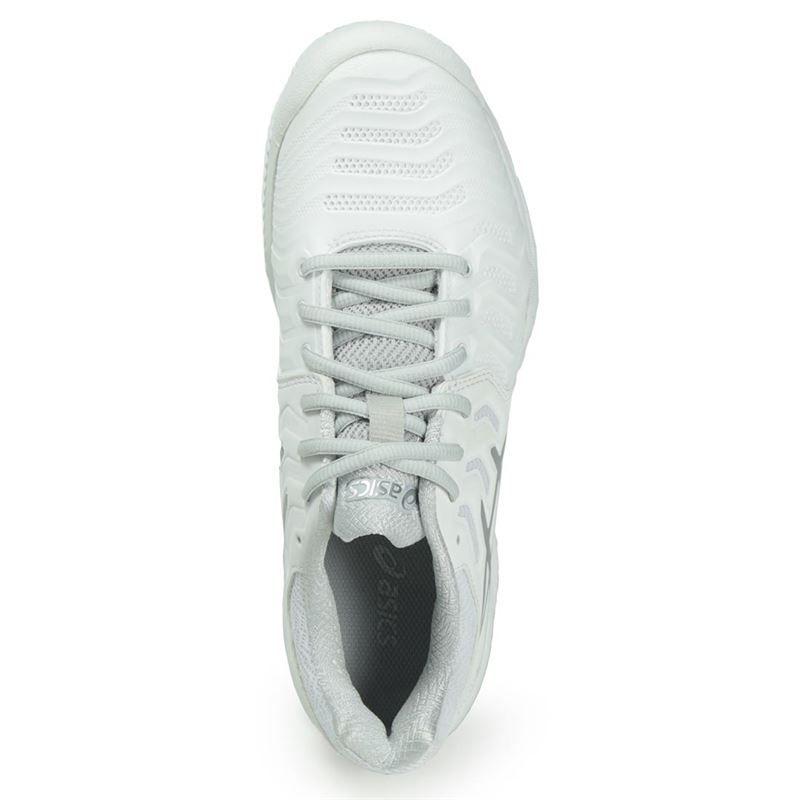 asics gel resolution 7 clay womens tennis shoe white