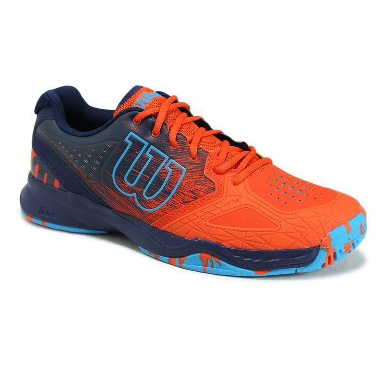 wilson kaos comp mens tennis shoe tomato navy wrs320570