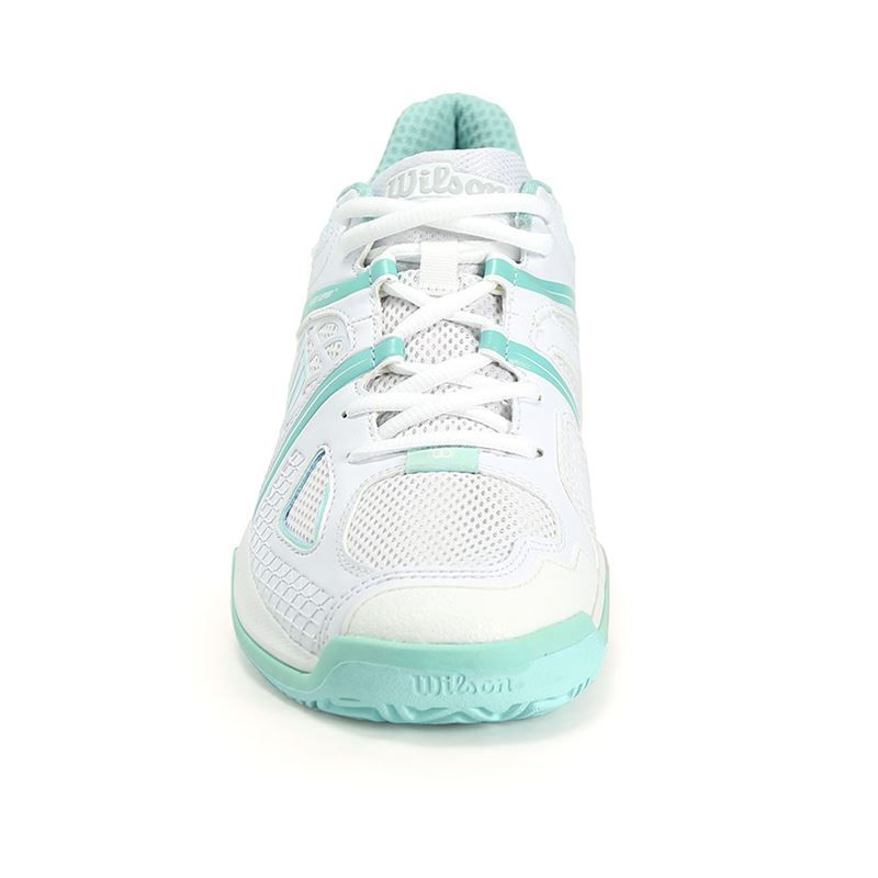 wilson nvision womens tennis shoe white aruba blue wrs320840