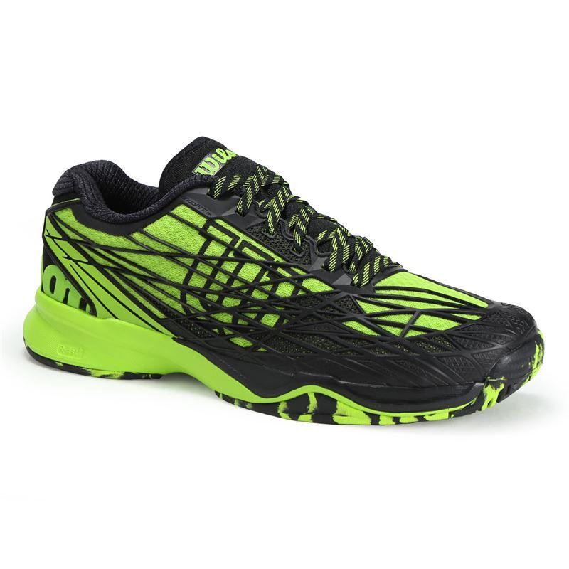 wilson kaos mens tennis shoe green black wrs321190