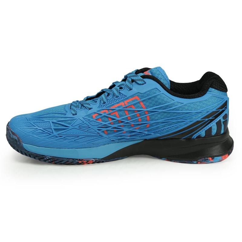 wilson kaos mens tennis shoe blue wrs322380 s