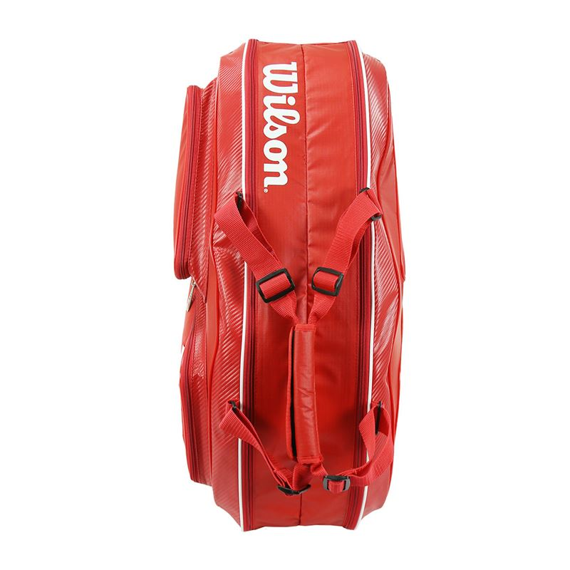 Wilson Tour V 6 Pack Red Tennis Bag Promo | Wilson Promo Tennis Bags